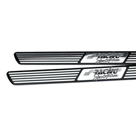 Μαρσπιέ Εσωτερικό Classic Type A Simoni Racing SRSL/A Μαύρο-Χρώμιο, 2τμχ aytokinhto mhxanh esoteriko aytokinhtoy ajesoyar