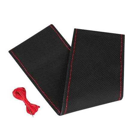 Καλύμμα Τιμονιού 37/39 Premium Perforated Lampa L3299.5 Μαύρο-Κόκκινο aytokinhto mhxanh esoteriko aytokinhtoy kalymmata timonioy
