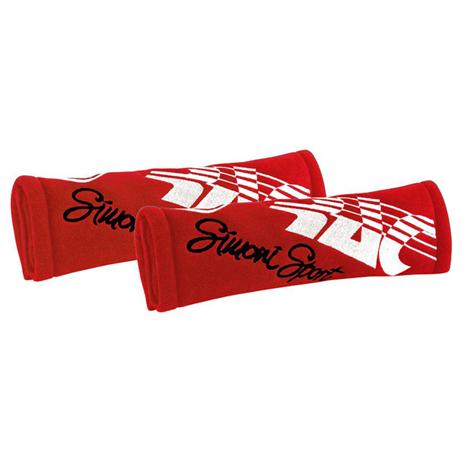Μαξιλάρακια Ζώνης Cut Microfibra Simoni Racing SRCC3/R Κόκκινα, 2τμχ aytokinhto mhxanh esoteriko aytokinhtoy majilarakia zonhs