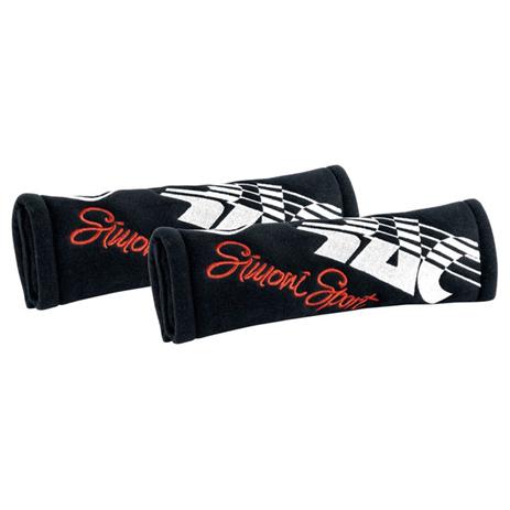 Μαξιλάρακια Ζώνης Cut Microfibra Simoni Racing SRCC3/N Μαύρα, 2τμχ aytokinhto mhxanh esoteriko aytokinhtoy majilarakia zonhs