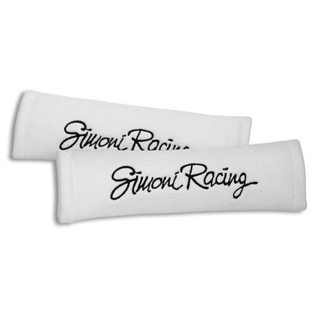 Μαξιλάρακια Ζώνης Griffe Microfibra Simoni Racing SRCC2/W Λευκά, 2τμχ aytokinhto mhxanh esoteriko aytokinhtoy majilarakia zonhs