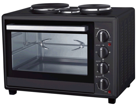 Φουρνάκι 48lt με 3 Εστίες Black Line Ariete 944 Oven 48L With Hot Plates
