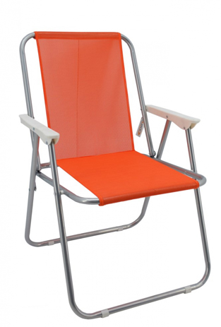 Καρέκλα Παραλίας 767717 Πορτοκαλί khpos outdoor camping epoxiaka camping karekles paralias