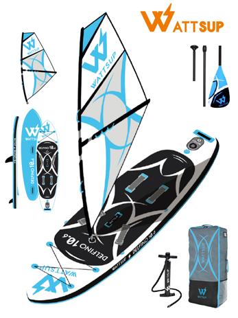 Φουσκωτή Σανίδα Sup WattSup Delphino 10.6 Wind Surf (0200-0409) khpos outdoor camping ualassia spor sanides sup