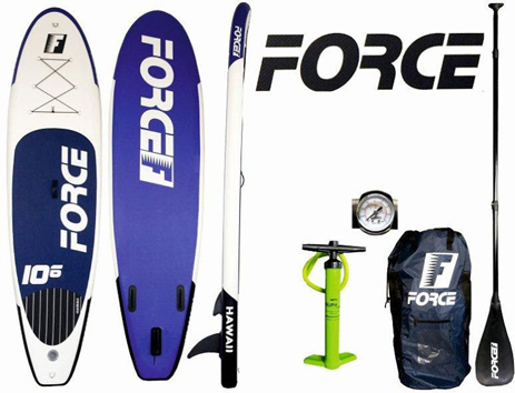 Φουσκωτή Σανίδα Sup Force Hawaii 10.6 (0200-0210) khpos outdoor camping ualassia spor sanides sup