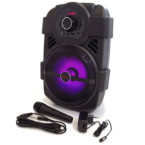 Φορητό Ηχείο Bluetooth με Led & Μικρόφωνο Akai ABTS-808L hlektrikes syskeyes texnologia eikona hxos hxeia
