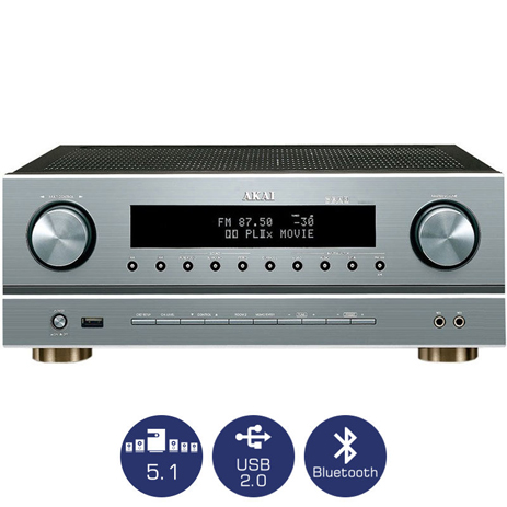 Ραδιοενισχυτής 5.1 Karaoke με Bluetooth & USB Akai AS005RA-750BT hlektrikes syskeyes texnologia eikona hxos home cinema