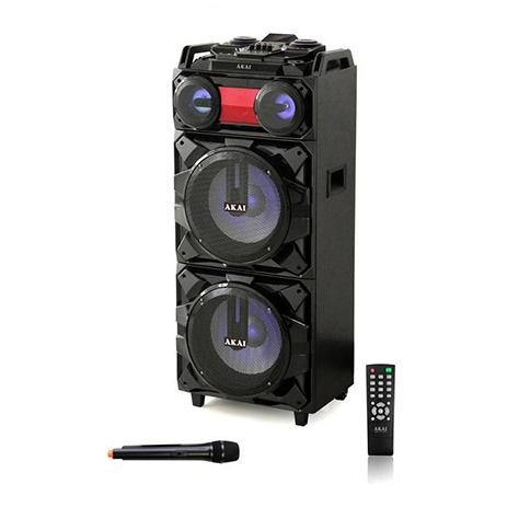 Φορητό Ηχείο Bluetooth με Led & Ασύρματο Μικρόφωνο Akai ABTS-T1203 hlektrikes syskeyes texnologia eikona hxos hxeia