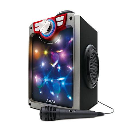 Φορητό Ηχείο Bluetooth με Led Μικρόφώνο & FM Akai CEU7300-BT hlektrikes syskeyes texnologia eikona hxos hxeia