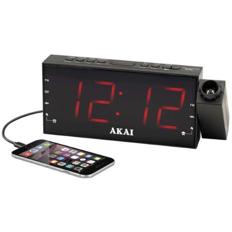 Ψηφιακό Ξυπνητήρι με Projector Ραδιόφωνο & USB Akai ACR-1001 hlektrikes syskeyes texnologia eikona hxos radiocdhi fi