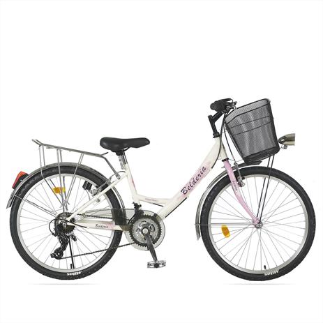 """Ποδήλατο Belderia Elegance 24"""" 21 Ταχυτήτων City Άσπρο paixnidia hobby podhlata gynaikeia"""