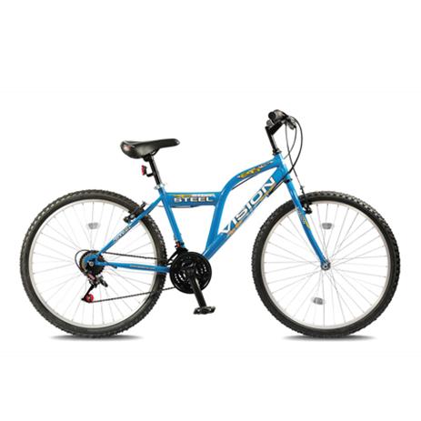 """Ποδήλατο Vision Steel 26"""" 21 Ταχυτήτων MTB Μπλε paixnidia hobby podhlata andrika"""