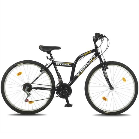 """Ποδήλατο Vision Steel 26"""" 21 Ταχυτήτων MTB Μαύρο paixnidia hobby podhlata andrika"""