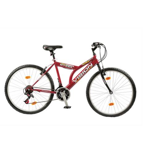 """Ποδήλατο Vision Steel 26"""" 21 Ταχυτήτων MTB Κόκκινο paixnidia hobby podhlata andrika"""