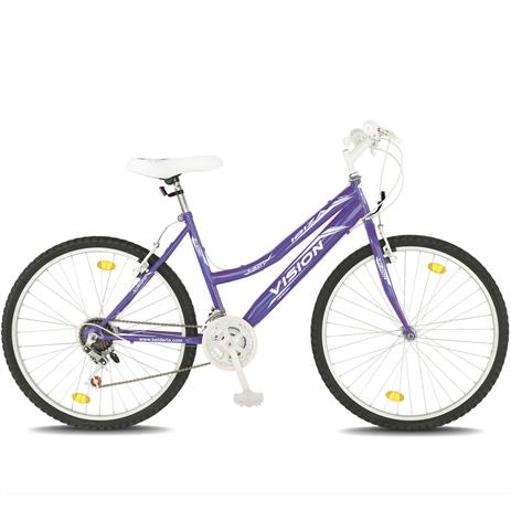 """Ποδήλατο Vision Ibiza Lady 26"""" 21 Ταχυτήτων MTB Μωβ paixnidia hobby podhlata gynaikeia"""