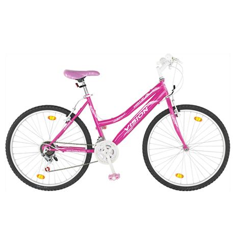 """Ποδήλατο Vision Ibiza Lady 26"""" 21 Ταχυτήτων MTB Ροζ paixnidia hobby podhlata gynaikeia"""