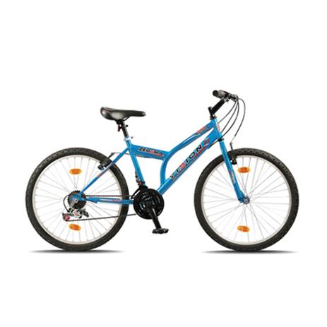 """Ποδήλατο Vision Zeugma 24"""" 21 Ταχυτήτων MTB Μπλέ paixnidia hobby podhlata andrika"""