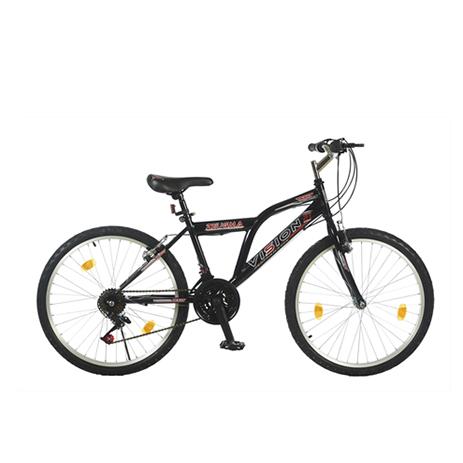 """Ποδήλατο Vision Zeugma 24"""" 21 Ταχυτήτων MTB Μαύρο paixnidia hobby podhlata andrika"""