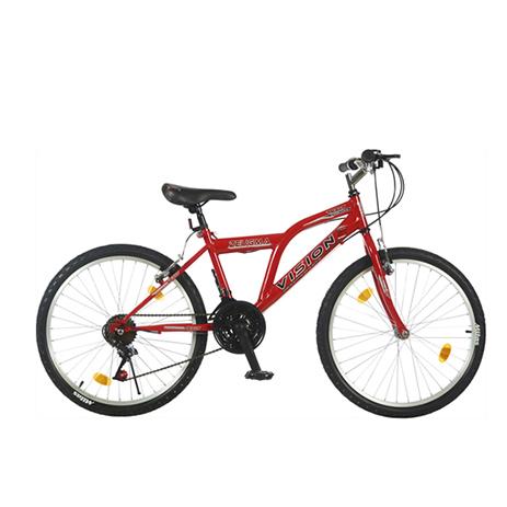 """Ποδήλατο Vision Zeugma 24"""" 21 Ταχυτήτων MTB Κόκκινο paixnidia hobby podhlata andrika"""