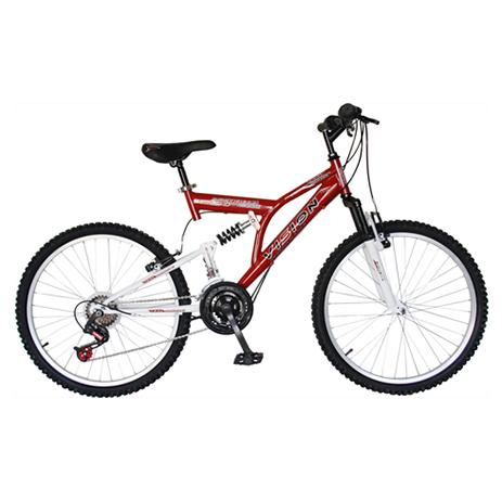 """Ποδήλατο Vision 24"""" Suspension 21 Ταχυτήτων MTB Κόκκινο paixnidia hobby podhlata andrika"""