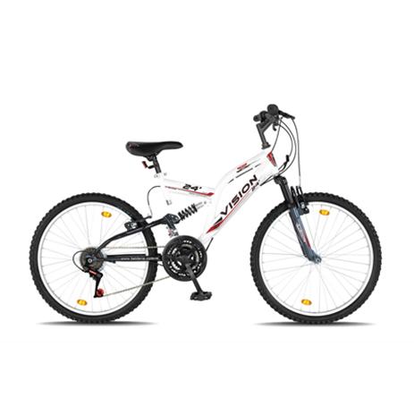 """Ποδήλατο Vision 24"""" Suspension 21 Ταχυτήτων MTB Λευκό paixnidia hobby podhlata andrika"""