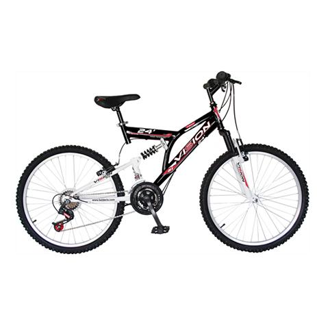 """Ποδήλατο Vision 24"""" Suspension 21 Ταχυτήτων MTB Μαύρο paixnidia hobby podhlata andrika"""