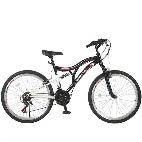 """Ποδήλατο Vision Kings GT 26"""" Suspension 21 Ταχυτήτων MTB Μαύρο paixnidia hobby podhlata andrika"""
