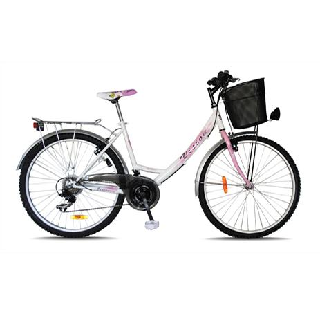 """Ποδήλατο Vision Mango 26"""" City 21 Ταχυτήτων Λευκό paixnidia hobby podhlata gynaikeia"""
