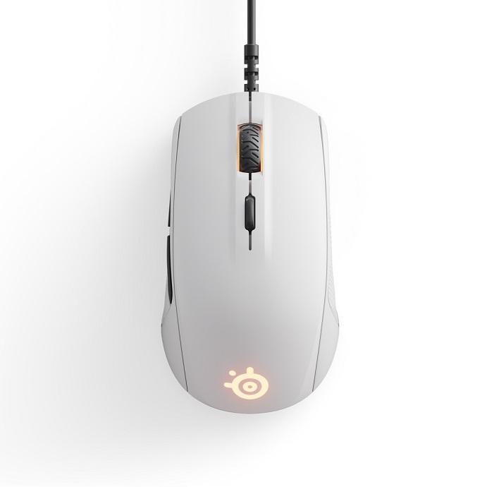Steelseries Mouse Rival 110 White gaming perifereiaka gaming pc pontikia