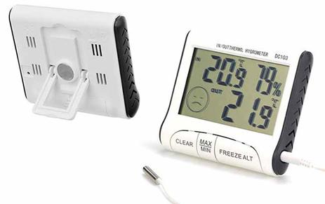 Θερμόμετρο/Υγρόμετρο Ψηφιακό Home&Style 735667-200 paixnidia hobby gadgets meteorologikoi staumoi