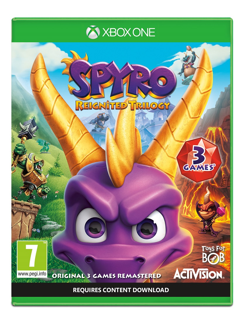 Spyro Reignited Trilogy - XBox One Game gaming games paixnidia xbox one
