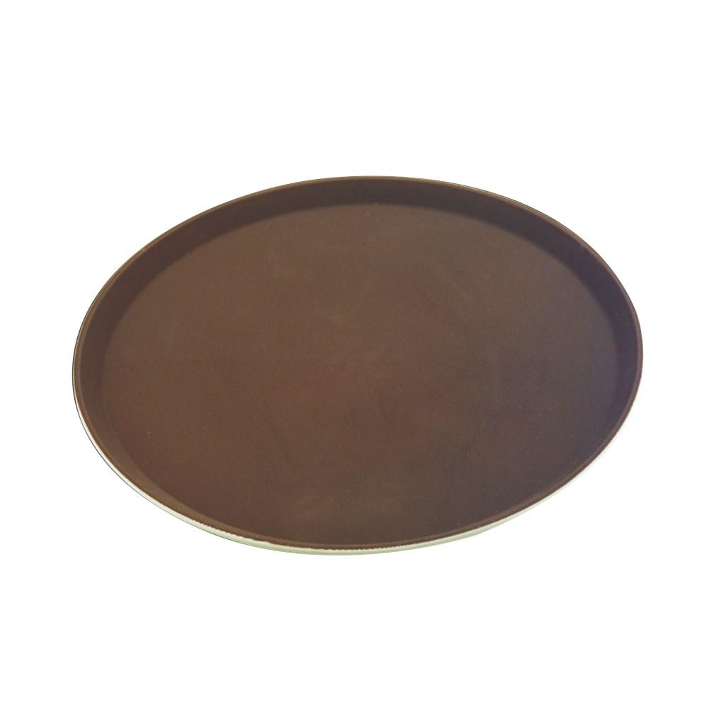 Δίσκος Σερβιρίσματος Στρογγυλός Αντιολισθητικός Φ27.5cm Sunnex MFE-1100BR Καφέ