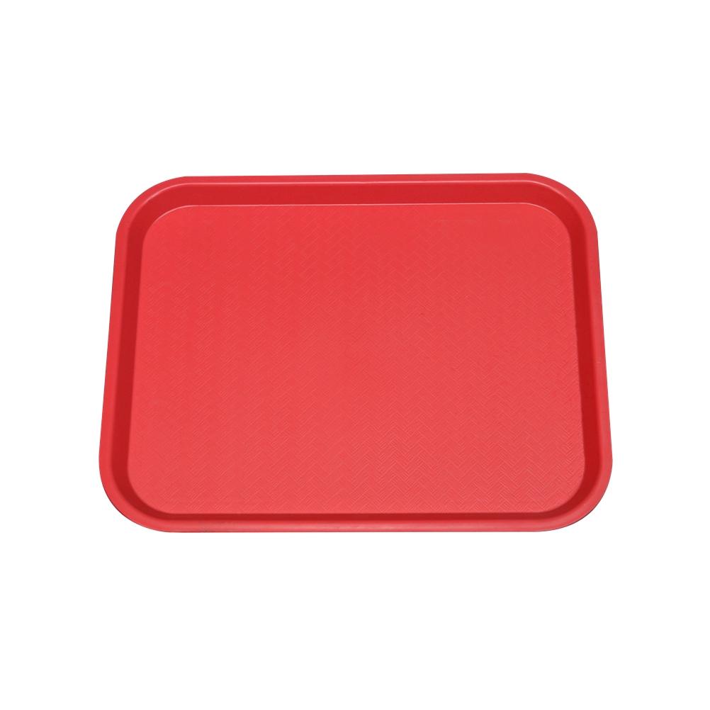 Πλαστικός Δίσκος Fast Food 40x30cm SYR-010118/RD Κόκκινος
