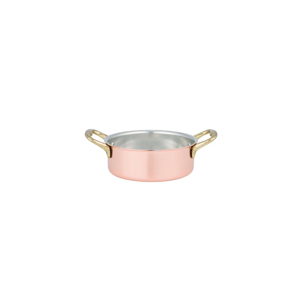 Κατσαρολάκι Ρηχό Χάλκινο Φ8cm Cu Artigiana 5340/8