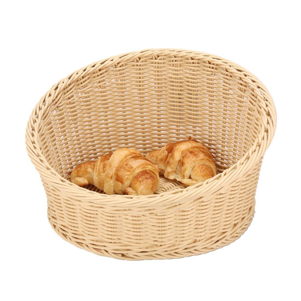 Ψωμιέρα Rattan Στρογγυλή 36cm Sunnex C-06032 Μπεζ spiti organosh koyzinas comieres