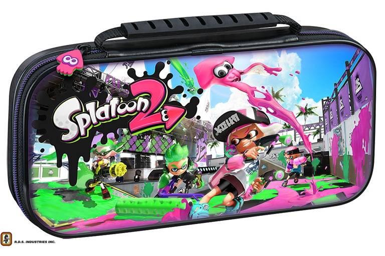 Big Ben Official Travel Case Splatoon 2 Black - Nintendo Switch Accessory gaming perifereiaka gaming nintendo switch ajesoyar