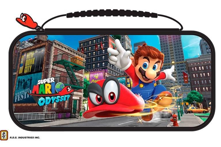 Big Ben Official Travel Case Mario Odyssey Black - Nintendo Switch Accessory gaming perifereiaka gaming nintendo switch ajesoyar