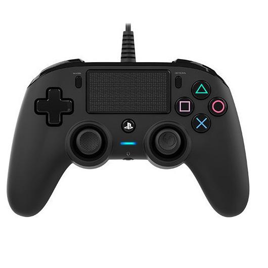 Nacon Wired Compact Controller Black - PS4 Controller gaming perifereiaka gaming ps4 xeiristhria