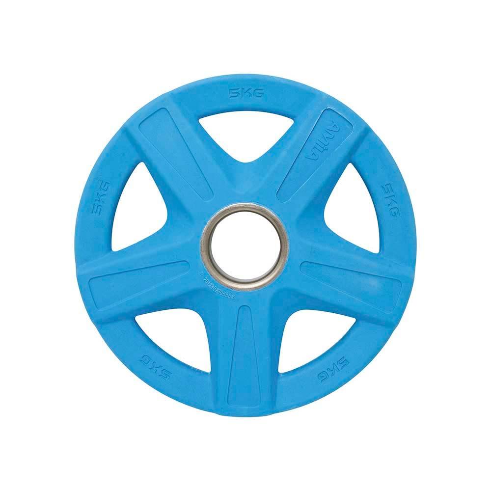 Δίσκος με Επένδυση Λάστιχου 50mm 5kg Amila 84572 Μπλε