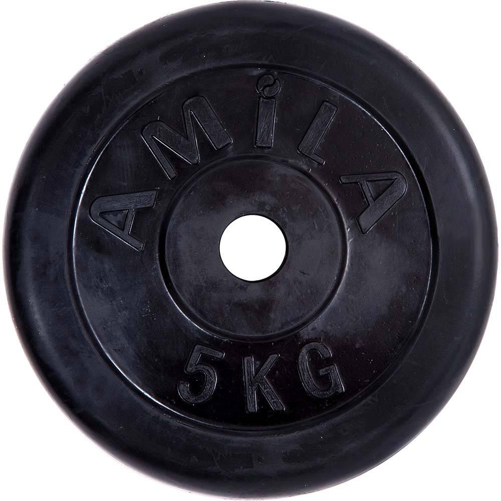 Δίσκος με Επένδυση Λάστιχου 28mm 5kg Amila 90253 paixnidia hobby organa gymnastikhs barh