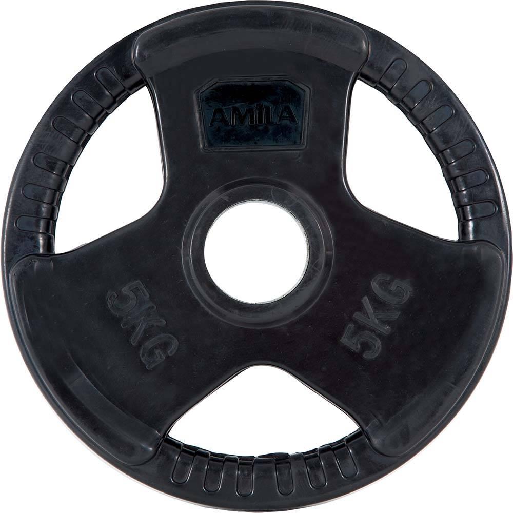 Δίσκος με Επένδυση Λάστιχου 50mm 5kg Amila 90273 paixnidia hobby organa gymnastikhs barh
