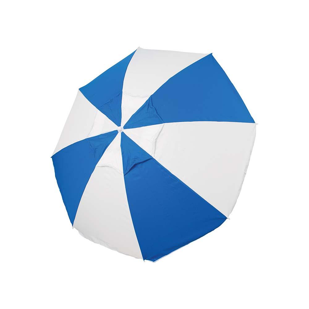 Ομπρέλα Παραλίας 2m OEM 12096 Μπλε/Άσπρη khpos outdoor camping epoxiaka camping ompreles ualasshs