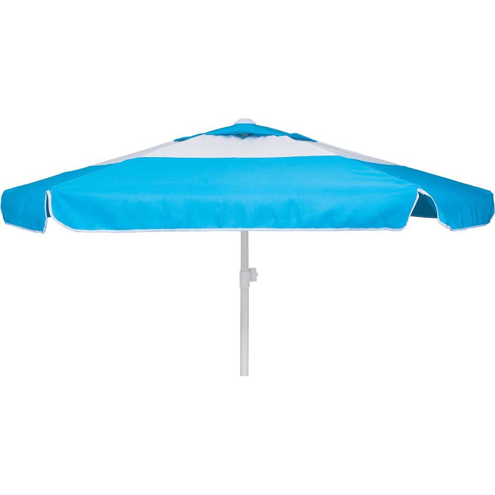 Ομπρέλα Παραλίας 2m OEM 12089 Μπλε/Άσπρη khpos outdoor camping epoxiaka camping ompreles ualasshs