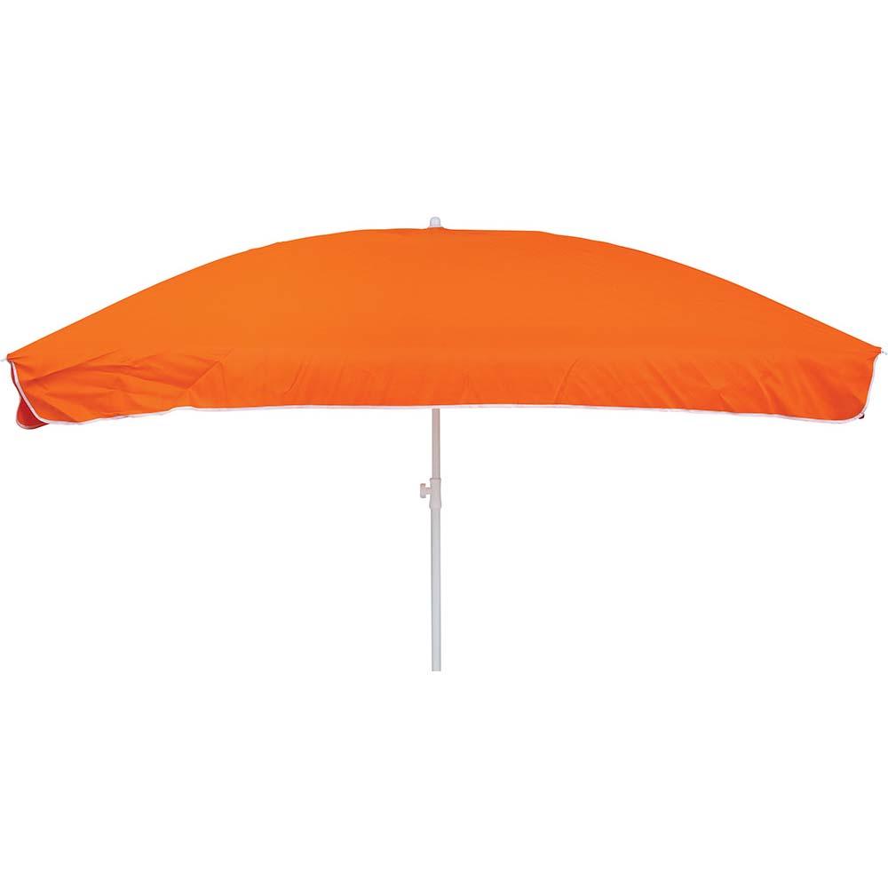 Ομπρέλα Παραλίας Τετράγωνη 1.9m OEM 12037 Πορτοκαλί khpos outdoor camping epoxiaka camping ompreles ualasshs