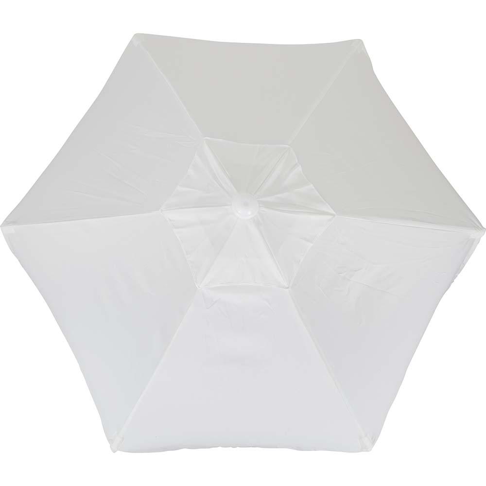 Ομπρέλα Παραλίας 2m OEM 12202 Λευκή khpos outdoor camping epoxiaka camping ompreles ualasshs