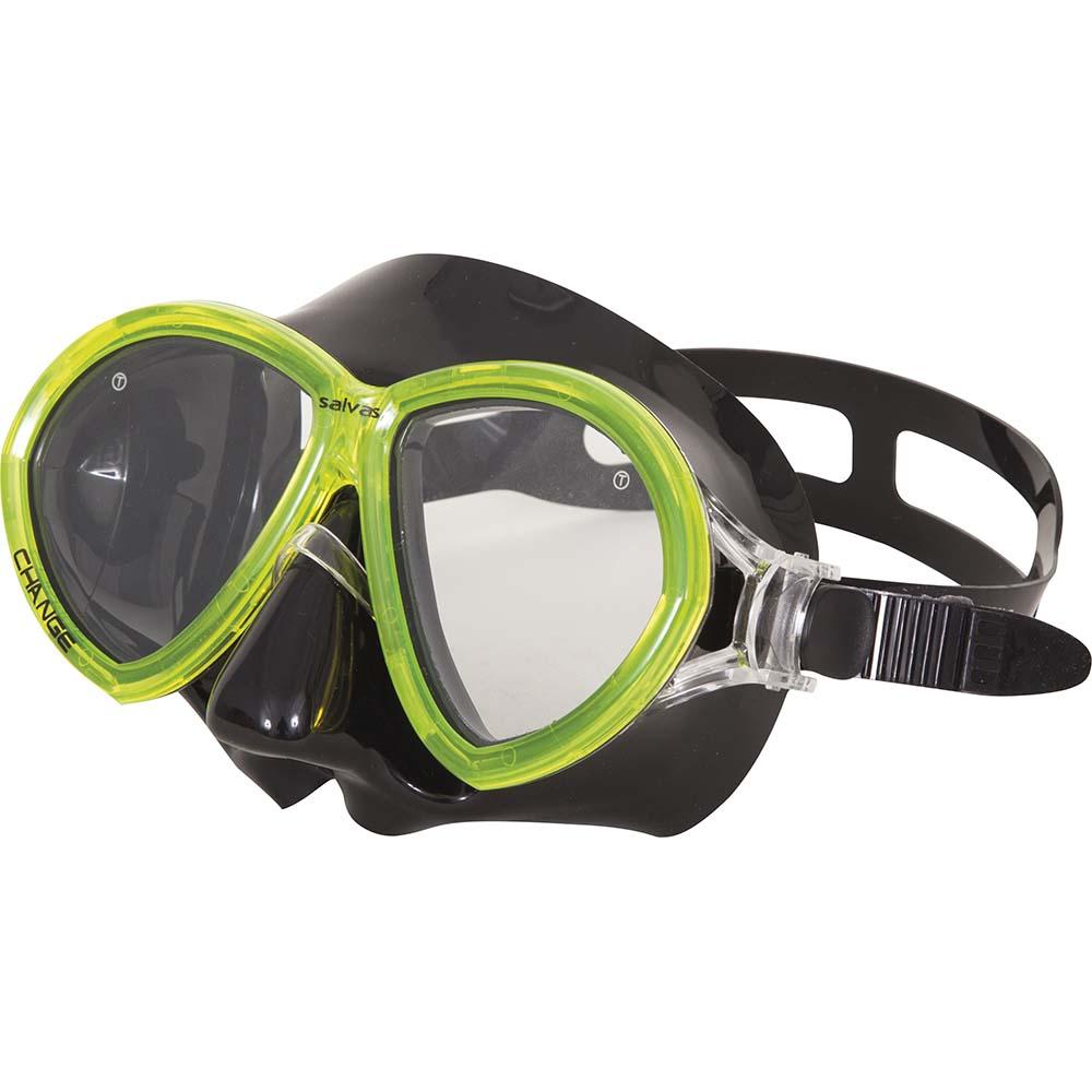 Μάσκα Θαλάσσης Change Senior OEM 52280 Μαύρη/Κίτρινη paixnidia hobby diving maskes
