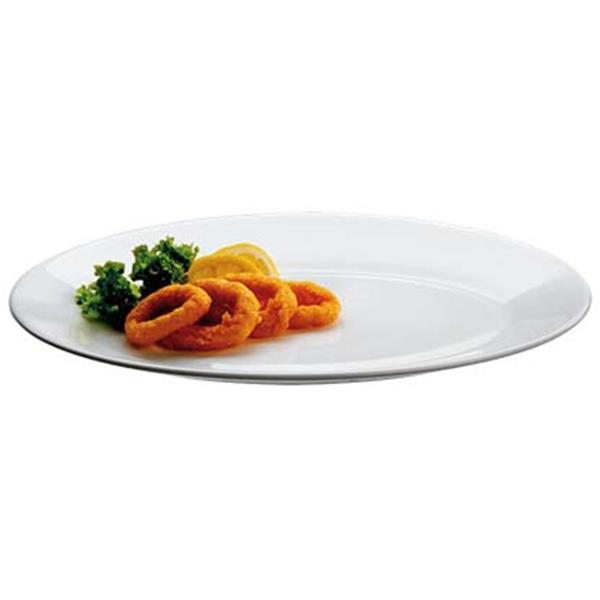 Πιάτο Ρηχό Οπαλίνης 19cm Tempered Bormioli Rocco Performa PFM-FP-19 Λευκό Σετ 6τμχ