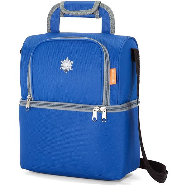 Ισοθερμική Τσάντα με 2 Χώρους Benzi BZ5313 Μπλε khpos outdoor camping epoxiaka camping cygeia tsantes