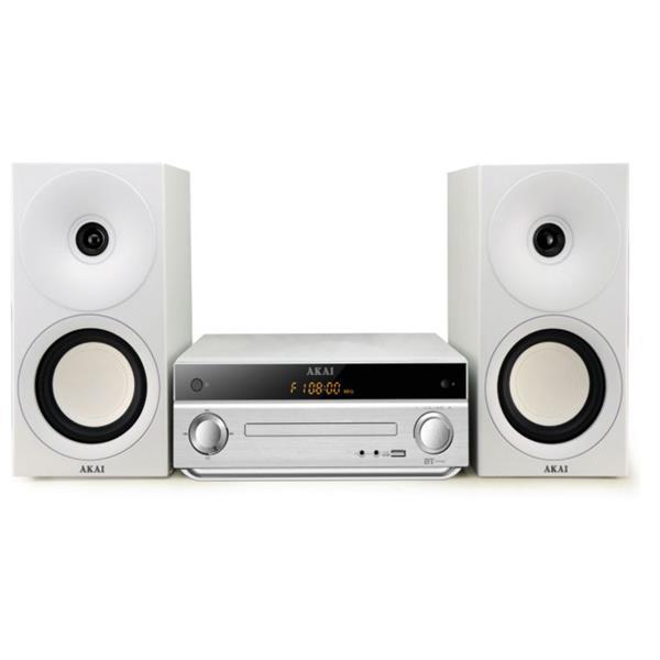 Micro Hi-Fi με Bluetooth, USB, Aux-In & CD-Player Akai AM-301W Λευκό hlektrikes syskeyes texnologia eikona hxos radiocdhi fi