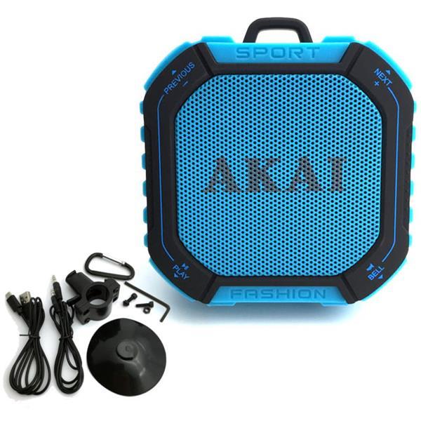 Αδιάβροχο Ηχείο Bluetooth FM, MicroSD Akai ABTS-B7 hlektrikes syskeyes texnologia eikona hxos hxeia